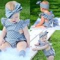 Polka Dot Meninas Do Bebê Recém-nascido Roupas Bodysuit Bonito Roupas Bebes Uma Peças Macacão Sunsuit