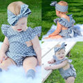 Polka Dot Newborn Baby Girls Clothes Bodysuit Cute Bebes One Pieces Jumpsuit Sunsuit Outfits