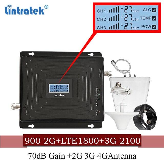 Lintratek Tế Bào Tăng Cường Tín Hiệu 900 1800 2100 GSM Trị Ban Nhạc Khuếch Đại Di Động Lặp Tín Hiệu DCS WCDMA 2G 3G 4G LTE Ăng Ten #40