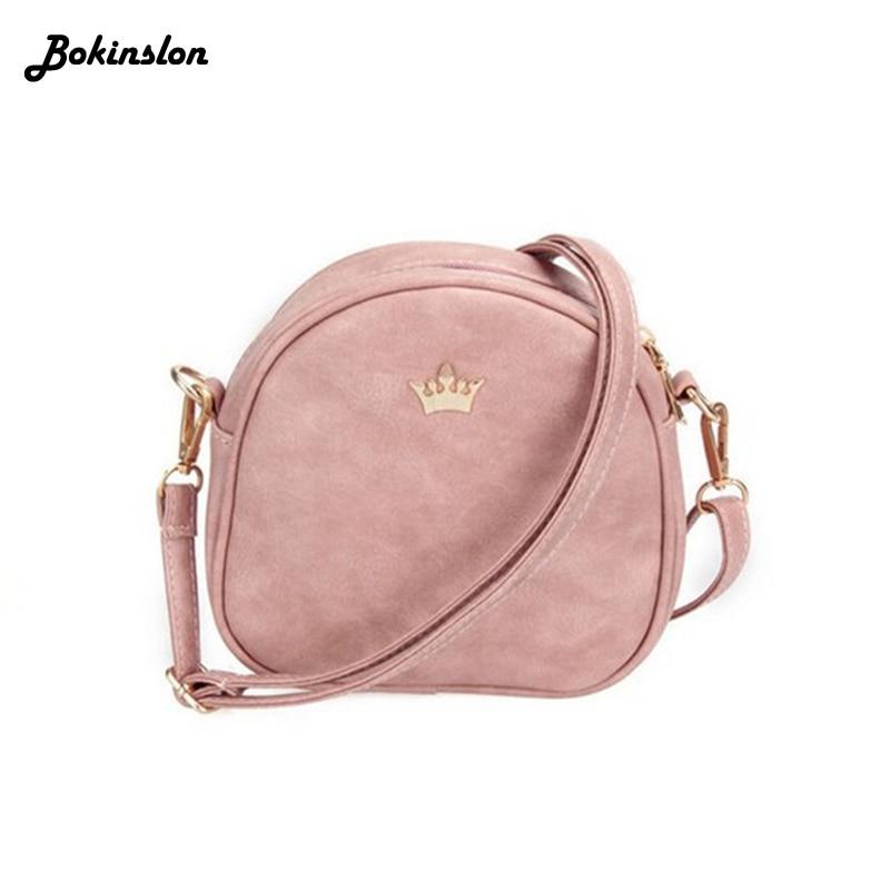 Woman Handbag Messenger Bags PU Leather Shoulder Bag Lady Crossbody Mini  Bag Female Fashion Crown Evening f510a47b4f53d