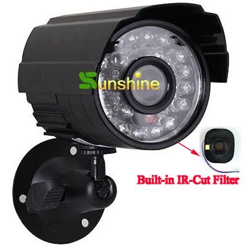 Cubierta de metal HD CMOS color 700TVL filtro incorporado de corte IR 24 LED de visión nocturna de interior/exterior impermeable ir Cámara cámara analógica