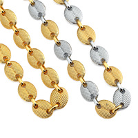 Hip hop Mens Punk Cool The coffee beans Chain Link Necklace Rapper Gold ingot Male Chain Punk Mens Cool Necklace Jewlery