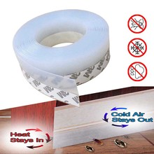 Door Window Seal Strip Weatherproof Stripping Silicone Sealing Sticker Seal Strip Adhesive Draught Excluder Insect Proof Gap Sea
