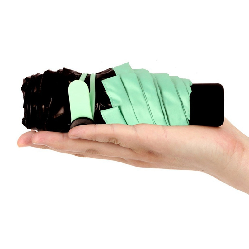 Mini Pocket Fashion Folding Umbrellas Women Sunny and Rainy Portable Small Umbrella Mini Black Girls Umbrellas Folding 30Y22