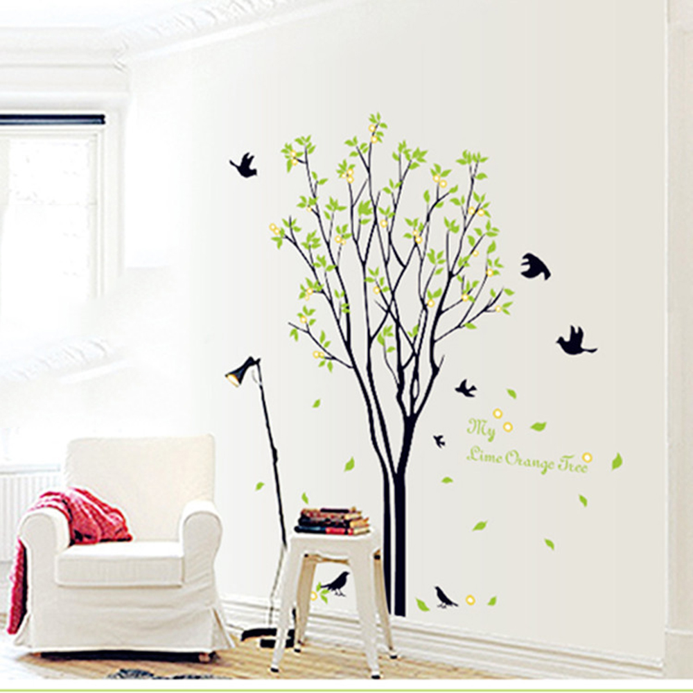 Aliexpress.com : Buy Modern Luxury Creative Tree Brid Wallpaper Stairs Bedroom  Living Room Lovely WallSticker Wall Stickers From Reliable Wall Sticker ... Part 88