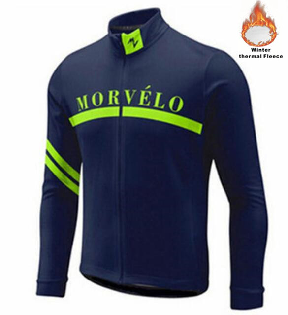 Bike-Clothing Bicycle-Wear Morvelo Thermal-Fleece-Jacket Long-Sleeve Maillot Winter Ciclismo