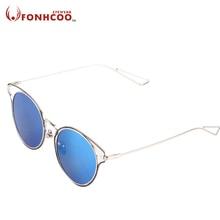 ffd91777f6 2018 fonhcoo diseñador de marca Gato ojo nueva moda Gafas de sol las mujeres  del gato de la vendimia gafas metal de la forma red.