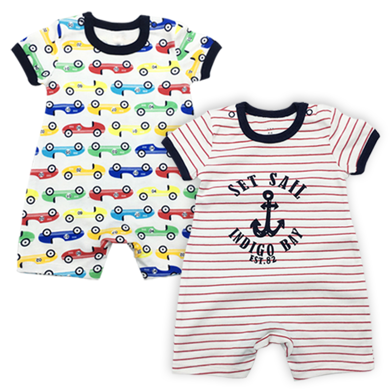 aa9d78aa1a22 2 Pack Baby Boys Clothes Babies Rompers Newborn Overalls Toddler Coveralls  3 24 Months Summer Short Sleeve Infant Girls Clothing-in Rompers from  Mother ...