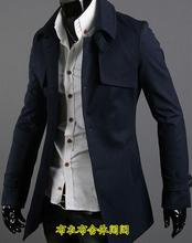 Single-breasted casual woolen coat men trench coats long sleeves overcoat mens cashmere coat casaco masculino england winter 887 single breasted woolen coat men trench coats long sleeves overcoat mens cashmere coat casaco masculino england autumn winter