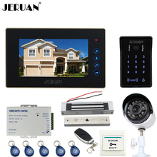 "JERUAN 7"" Video Door Phone intercom System kit waterproof touch Password keyboard Access Camera + 700TVL Analog Camera 2V1"