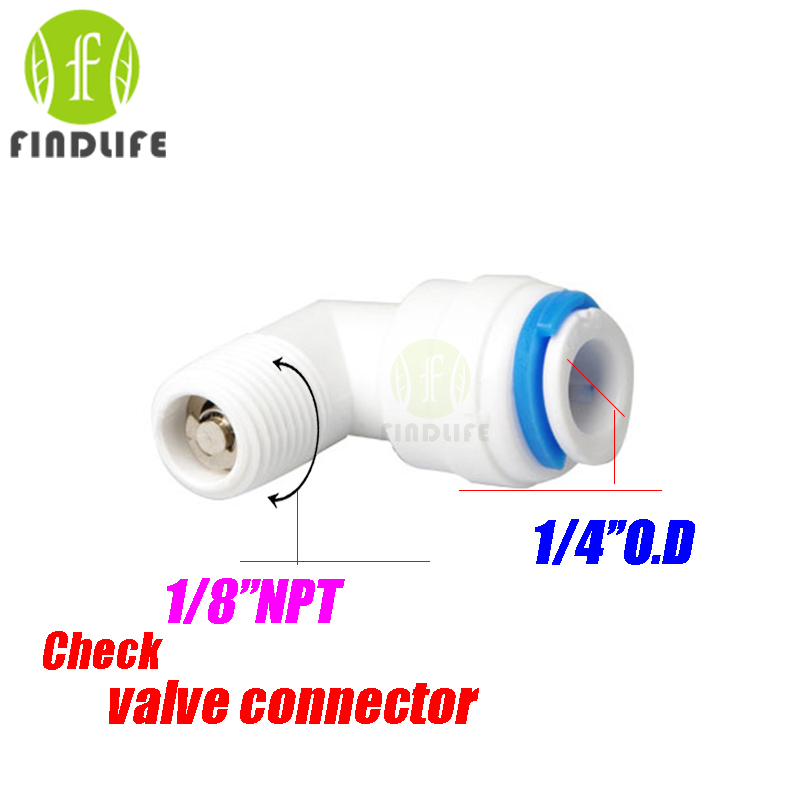 Water Filter Parts 2pcs 1/4 OD Tube* 1/8 NPT BSP Female check valve Quick Connector Aquarium For RO Water purifier system 4042 2 pcs water filter parts 1 4 tank ball valve for tube quick connect switch water purifier ro reverse osmosis system