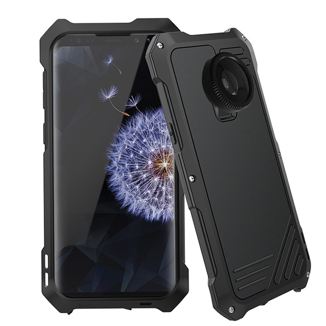 the latest 76752 6ca93 US $19.06 48% OFF|For Samsung Galaxy S9 S9 Plus Dual Camera Lens Case  Fisheye Wide Angle Macro Lens Metal + Silicone Waterproof Cover Case S9  Plus-in ...