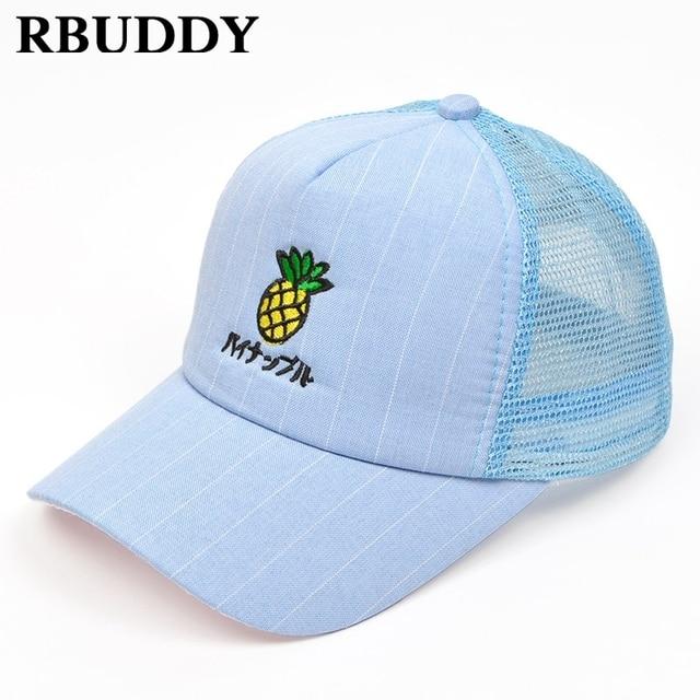 RBUDDY Cute 3D Pineapple Children Baseball Caps Hip Pop Streetwear Snapback  Summer Dad Hat for Boy Girl Gift Mesh Adjustable Hat ac3aa01420bc