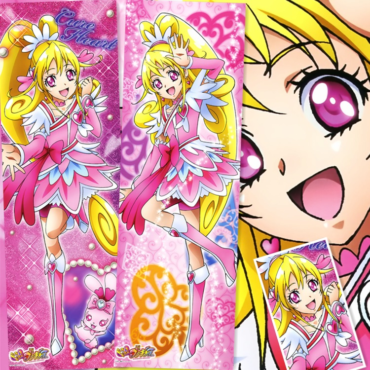 45X135 cm Doki Doki DokiDoki Anvulkanisierten Pretty Cure Serie loli Anime Cartoon blättern wand bild wandbild poster tuch leinwand malerei