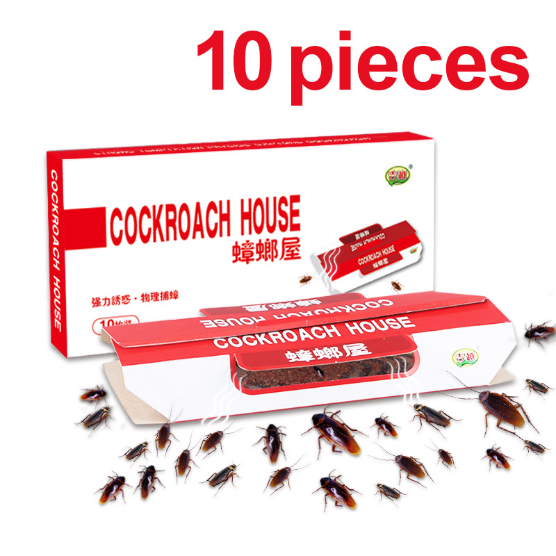 Image 2 - 10 Pcs killing Cockroaches Glue Trap Bait Included kill Roach Killer Anti Cockroach Trap Centipedes Crickets cockroach sticker-in Traps from Home & Garden
