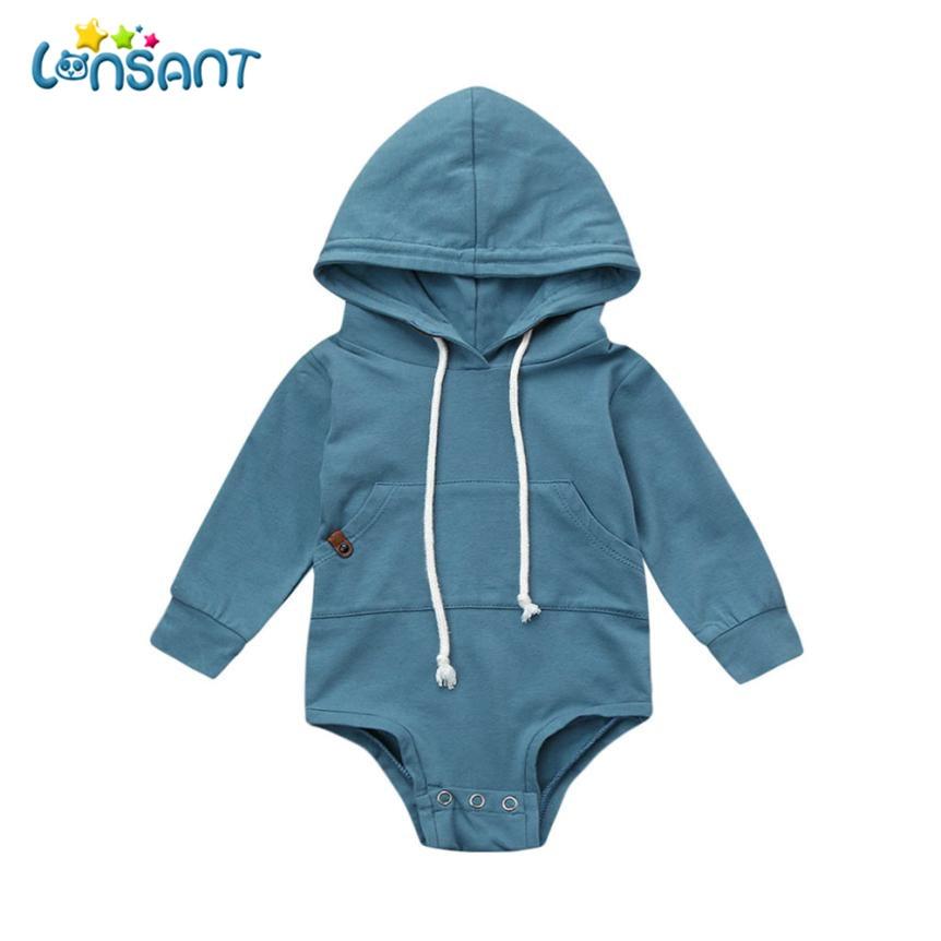 LONSANT Bodysuit Body Bebe Menina Cotton Long Sleeve Baby Bodysuit Winter Children Boys Girls Clothes Jumpsuit Dropshipping De15