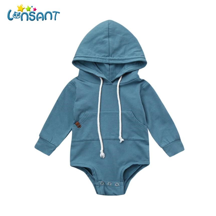 LONSANT Bodysuit Body Bebe Menina Cotton Long Sleeve Baby Bodysuit Winter Children Boys Girls Clothes Jumpsuit Dropshipping De15 ...