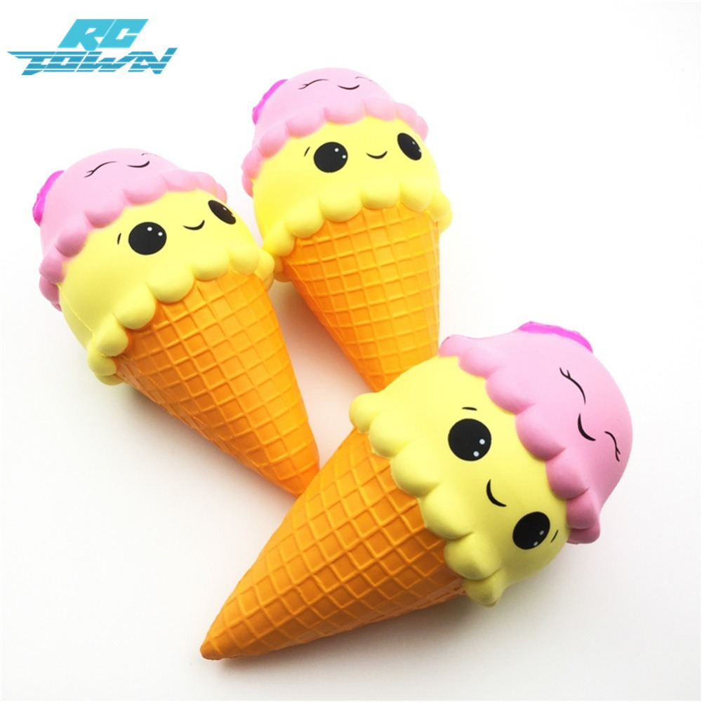 RCtown Rebound Large Ice Cream Toy, Soft and Comfortable,Hand Flexibility Relaxation Stress Relief and Finger Strengthening d35