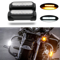 Chrome Motorcycle Highway Bar Switchback Driving Light For Harley Touring Models