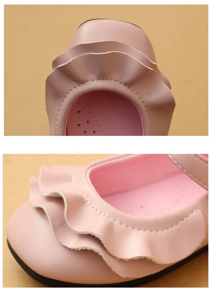Posh Dream Flower Girls Baby Casual Shoes Pink Beige Leather Girls