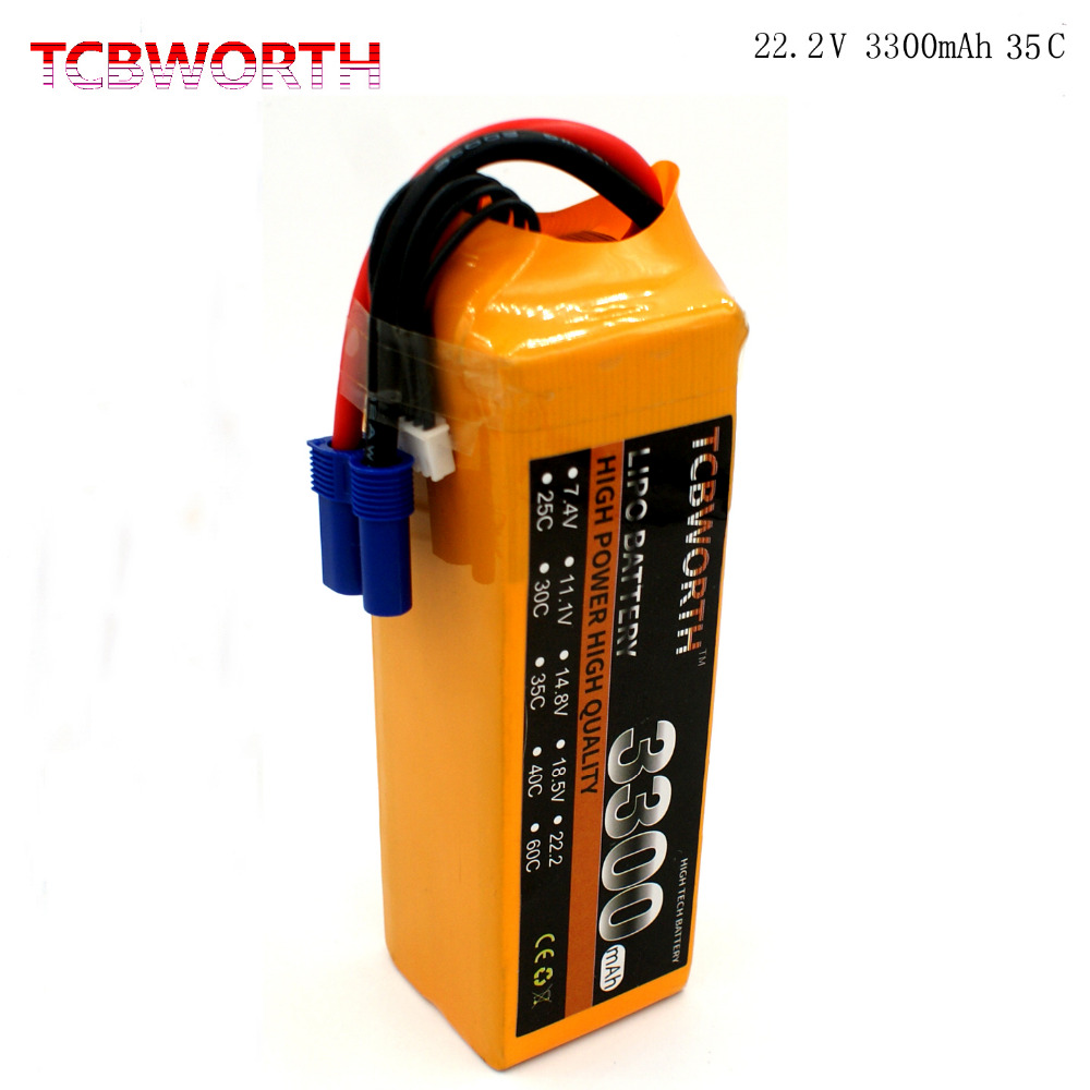 TCBWORTH RC LiPo battery 6S 22.2V 3300mAh 35C-70C For RC Airplane Helicopter Quadrotor Drone Car boat Truck Li-ion battery kep rc lipo battery 22 2v 6000mah 6s 25c for rc aircraft helicopter quadrotor airplane drone car boat multirotor li ion battery