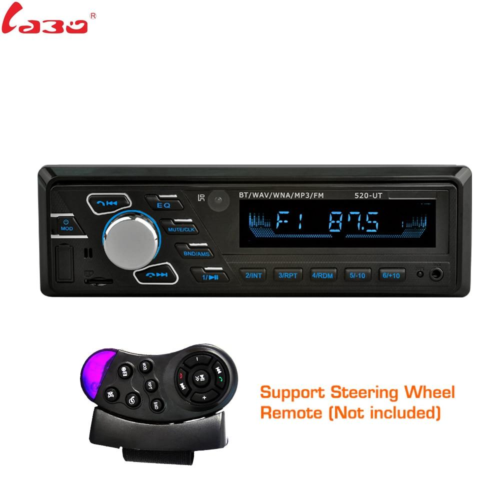 LaBo 1 Din 2.5 pouces Autoradio lecteur stéréo MP3 multimédia Autoradio lecteur Audio de voiture avec télécommande Bluetooth USB AUX FM