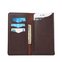 Universal Elephant Pattern Leather Wallet Sleeve Pouch Case for Qilive Smartphone Q4 4.5/Q.4868/Q.4725/Q.4415 4.5 Inch