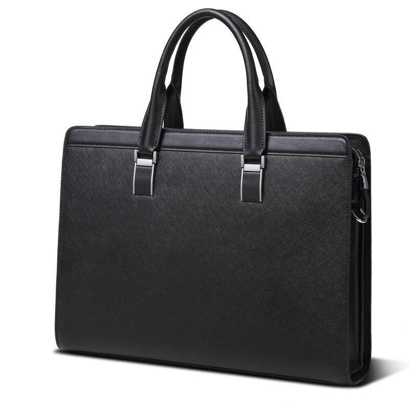 Luxus Marke Leder Männer Laptop Tasche Aktentasche Mode herren Business handtasche Casual Leder Umhängetasche für Männer