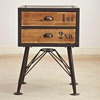 Винтажный стиль мебельной промышленности Лофт/утилизации старых ель мебель/Античная Деревянный стол, прикроватный столик