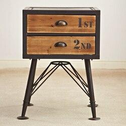 VINTAGE stil möbel industrie LOFT/recycling alt fir möbel/antike hölzerne schreibtisch, nachttisch