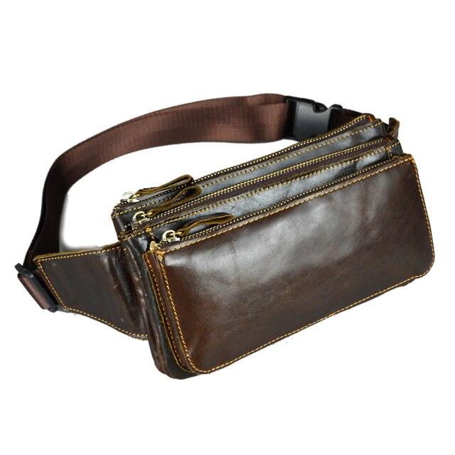4bb21a66312 Piel de vaca cuero genuino pequeños bolsos de la cintura para hombre  táctico mans cinturón carteras