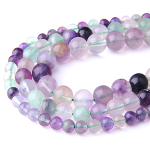 Natural Fluorite Beads Purple Round Gem Stone Loose Beads 4 6 8 10 12MM Pick Size for Jewelry Making Bracelet Accessries