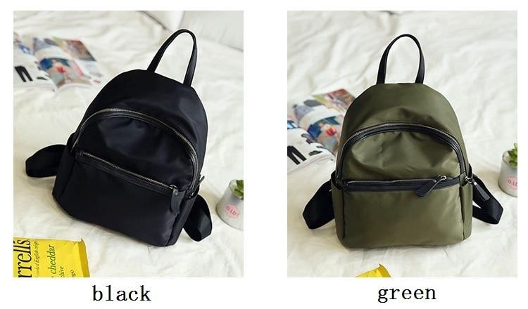 HTB1E0y4bsnI8KJjSsziq6z8QpXaY 2019 New Women Backpacks Vintage Korea Brand Design Bag Travel Anti Theft Backpack Nylon High Quality Small Rucksack ZZL188