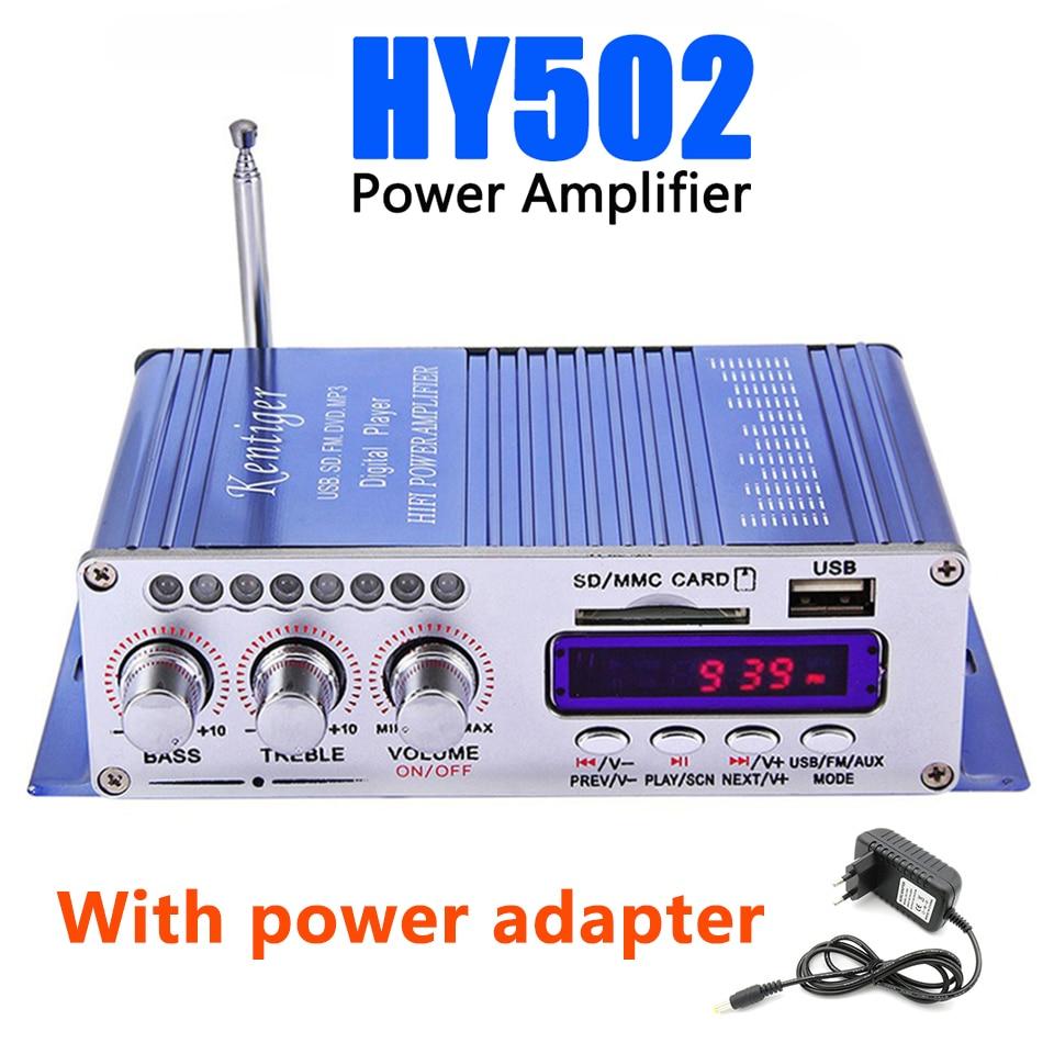 Hi-Fi hy502 аудио Мощность Усилители домашние USB MP3 DVD CD FM SD цифровой плеер для мотоцикла Авто Стерео Усилители домашние + Адаптеры питания