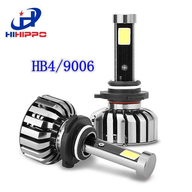 HIHIPPO 2 ШТ. HB4 9006 LED Автомобилей Лампы Универсальный COB Фар Автомобиля лампы 80 Вт 8000LM LED 6000 К Авто Заменить Галогенные Свет Ксенона HB4