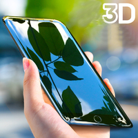Sapphire Coating Anti Drop 3D Full Cover Screen Protector Tempered Glass For iPhone 7 6 8 6s Plus 10 X Pelicula De Vidro