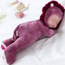 35CM Baby Doll Reborn Doll Toy For Kids Appease Accompany Sleep Cute Vinyl Doll Plush Toy Girl Baby Gift Collection