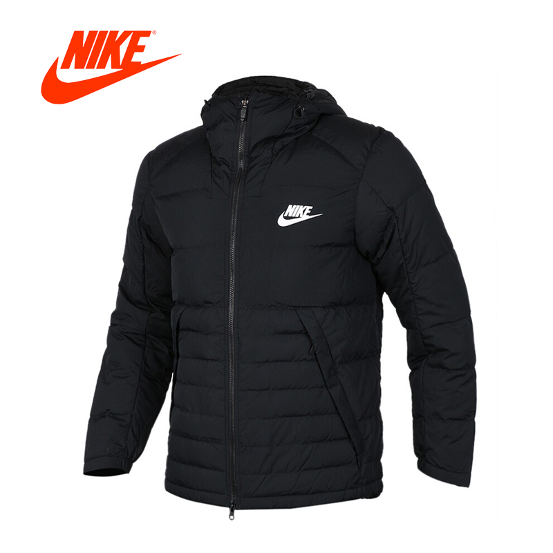 Original New Arrival Official Nike Men's Hooded Jacket Breathable Sportswear original nike men s black knitted jacket hooded sportswear