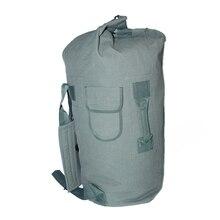 Tactical Canvas Backpack Airsoft Outdoor Sports Men Shoulder Bag Travel Camping Bucket Bag