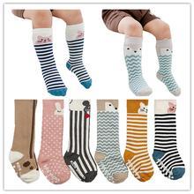 Теплые носки для детей от 2 до 4 лет гольфы для малышей Chaussette Enfants детские носки с тормозами для мальчиков и девочек