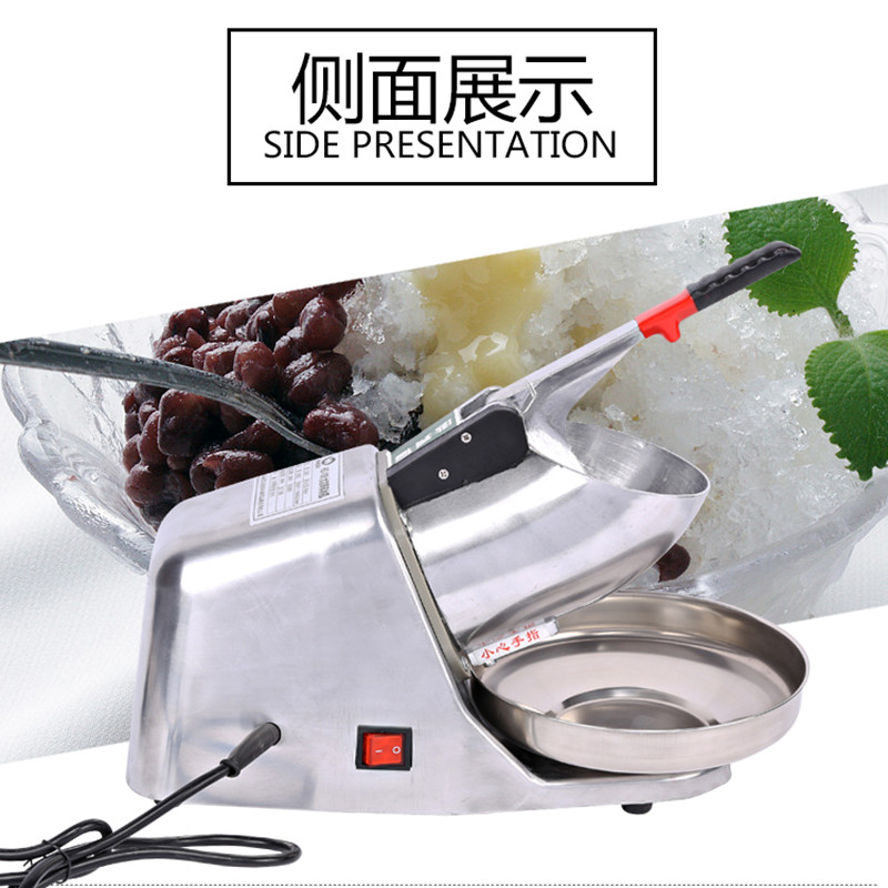 Ice chopper home use snow ice crusher electric ice shaver machine ice maker jiqi electric ice crusher shaver snow cone ice block making machine household commercial ice slush sand maker ice tea shop eu us