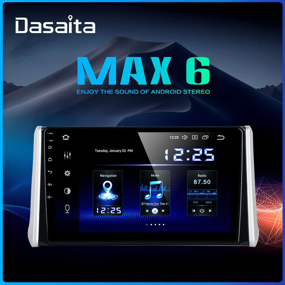 Dasaita 10.2 IPS screen Android 9.0 Car Multimedia for Toyota RAV4 Radio 2018 2019 TDA7850 GPS Bluetooth HDMI Car Stereo MAX6
