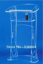 Darmowa wysyłka akrylowe pulpit mównica tanie akrylowe mównica darmowa wysyłka pleksi szkoła podium pleksi ambona wyczyść rostrum tanie tanio 1150x600x400mm Acrylic Biurko recepcji Lectern-0088 Meble komercyjne Meble biurowe