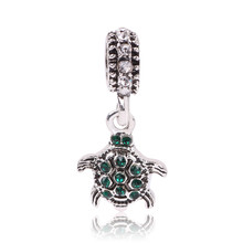 Green Beads Fit Pandora Bracelet Necklace Big Hole Diy Charms Women Girl Gift