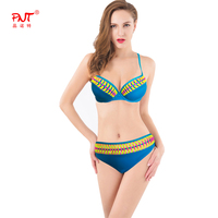 PNT091 Bikini Set Push Up Swimwear Swimsuit Sexy Monokini Red Yellow Blue Rope Cross Twist Braided