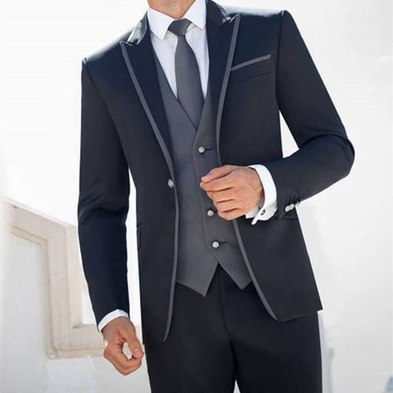 Aliexpress Custom Costume Homme Marriage Groom Tuxedos Groomsmen Wedding Suits For Men Prom Bridegroom Suit Jacket Pants Vest Tie From