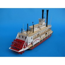 Mississippi steam Warship ship Paper Model Toys Handmade 3D DIY creative show props decorate Collection Military Fans Gift