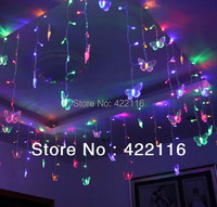 3 5meters RGB LED Holiday LIGHTS STRING Strip 100 SMDs 16 Butterfly 110V 220V EU US