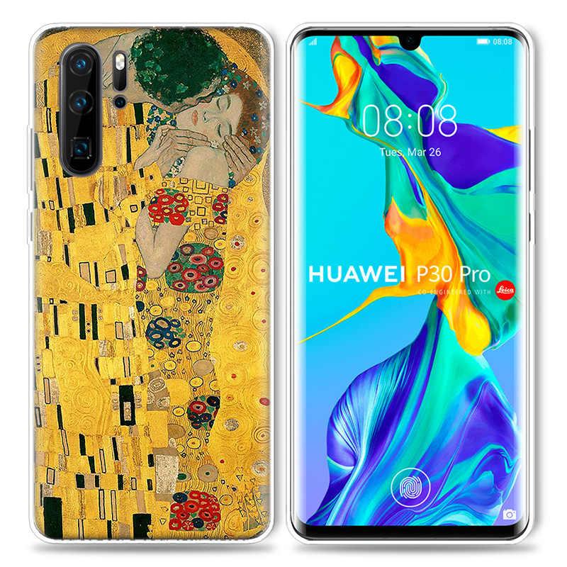 Kiss Gustav Klimt Case for Huawei P20 P30 P Smart Z Plus 2019 P10 P9 P8 Mate 10 20 lite Pro Mini 2017 Silicone Phone Bags Capa