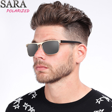 34d1e0787b0 SARA Retro Square Men sunglasses brand 2018 Classic Fashion Sun glasses  black Colors Polarized Eyewear glasses